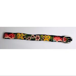 Jenny Krauss Floral Embroidered Boho Belt